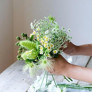 【特集 暑さを忘れる、夏の花】第6話:清涼感ばつぐんの色合わせ、ホワイト×グリーン。