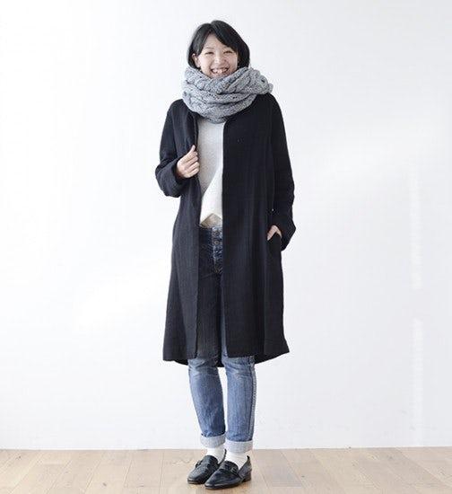 【スタッフ着用レビュー】FLWリネンウールコート(ブラック)を着てみました! -バイヤー 加藤編-