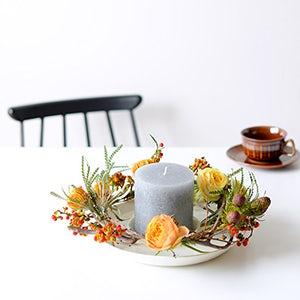 【ハンドメイドの花飾り】第2話:食卓や玄関にかざりたい。15分で作れる、かんたんリース。
