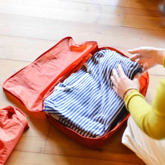 【旅のおしゃれ】第2話:荷づくり・パッキングは仕分けケースで隙間なくつめるとうまくいく!
