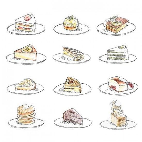 【今日のスケッチ】特別な時だけじゃない?12ヶ月のケーキたち。