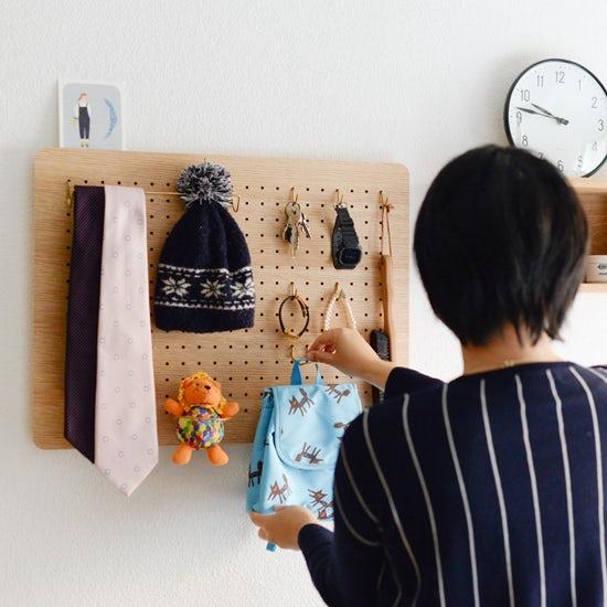 【新商品】スタッフ宅で実践!取り付け簡単な有孔ボードで、収納の悩みを解決。