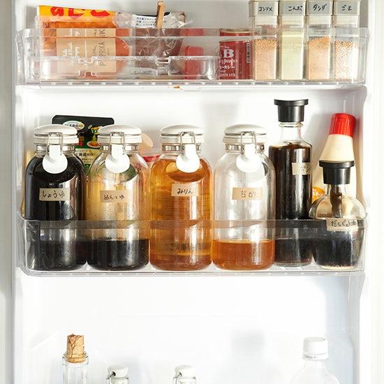 【冷蔵庫収納のマイルール】第3話:お料理の効率がアップする、ドアポケットの収納アイテム。