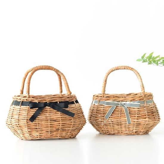 【新商品】かごバッグの季節到来!Encachetteかごバッグにボーダーリボンが仲間入り。