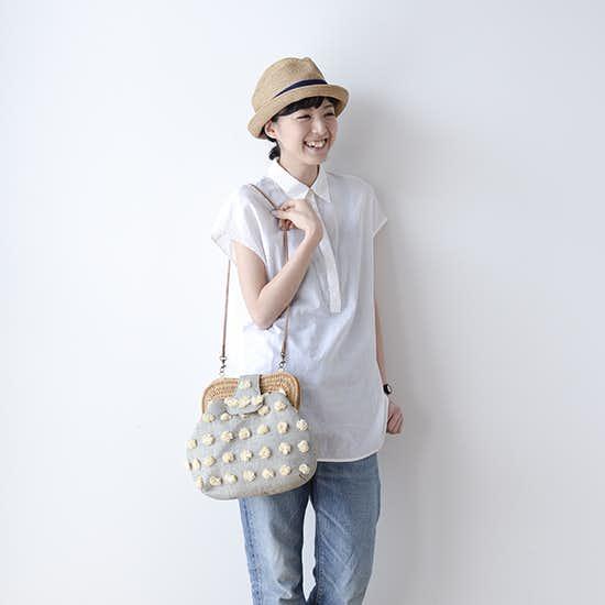 【新商品】可愛いだけじゃない、使い勝手の良さも魅力の2WAYラフィアバッグ!