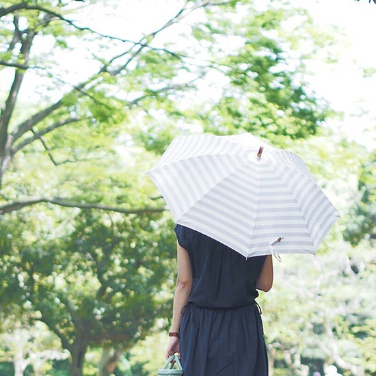 毎日持ちたい、大人かわいいボーダー日傘