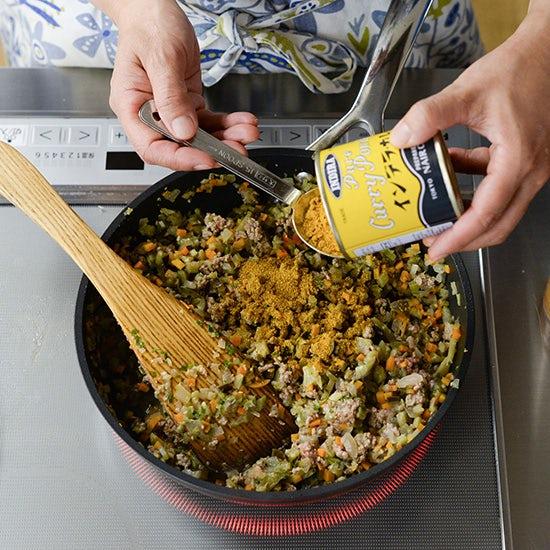 【フライパン1つで満足レシピ】野菜たっぷり、夏に食べたい「キーマカレー」