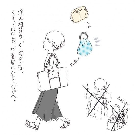 【今日のスケッチ】バッグinバッグで、あの悩みが解決?