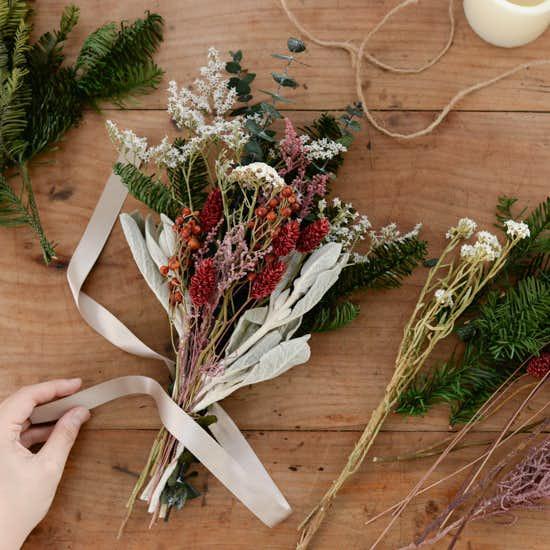 【新商品】お待たせしました!クリスマスを迎える時間を楽しむ「スワッグキット」ができました♪