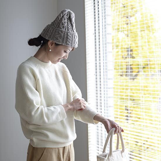 【スタッフ着用レビュー】Porter des boutonsのエトワール柄ニットを着てみました!-バイヤー加藤-
