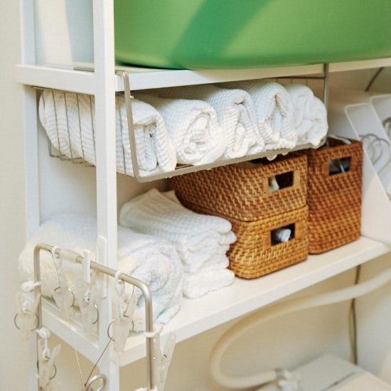 【洗面所の収納】本多さおりさん 第3話:小さな工夫で収納力をアップ!洗濯機周りの収納術