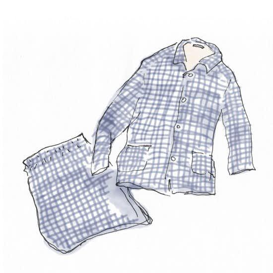 【今日のスケッチ】パジャマを新調してみたら、眠りが変わった!