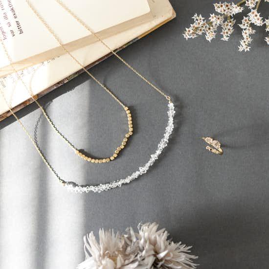 【新商品】4通りの着け方を楽しめるネックレスとフリーサイズの上品リング。