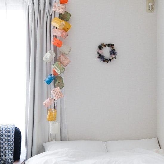 【スタッフの愛用品】春のリースキットを、私も自宅に飾ってみました!