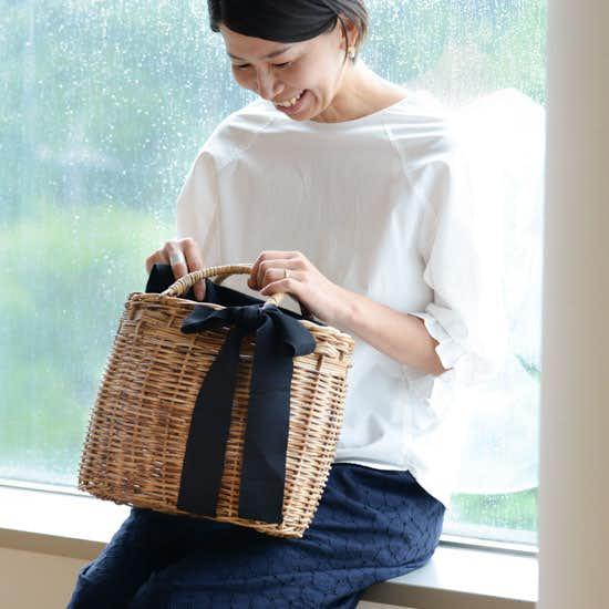 【新商品】たっぷり容量がうれしい!毎日使いにぴったりのオリジナルかごバッグができました♪