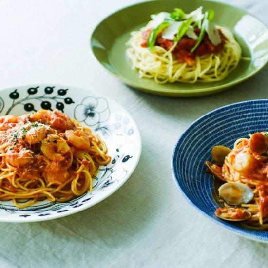 【盛り付け図鑑】第3話:お家ご飯をもっとおいしそうに!トマトパスタの盛り付けいろいろ。