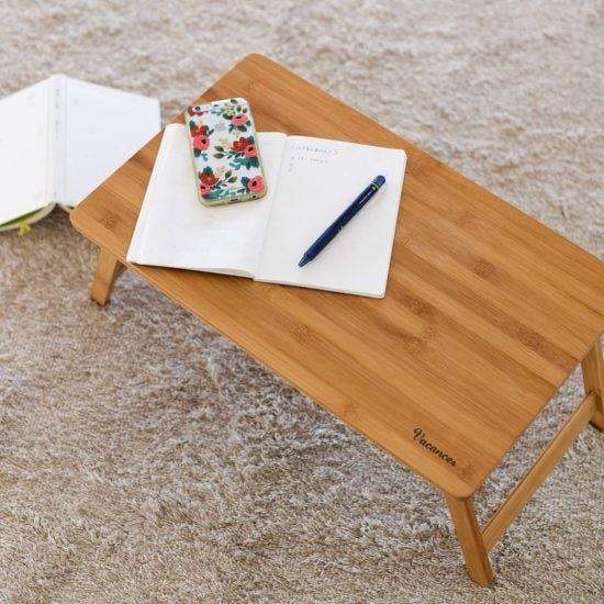 【スタッフの愛用品】子どもは朝ごはん、大人は自分じかんの相棒に。折りたたみ式ローテーブルのある1日。