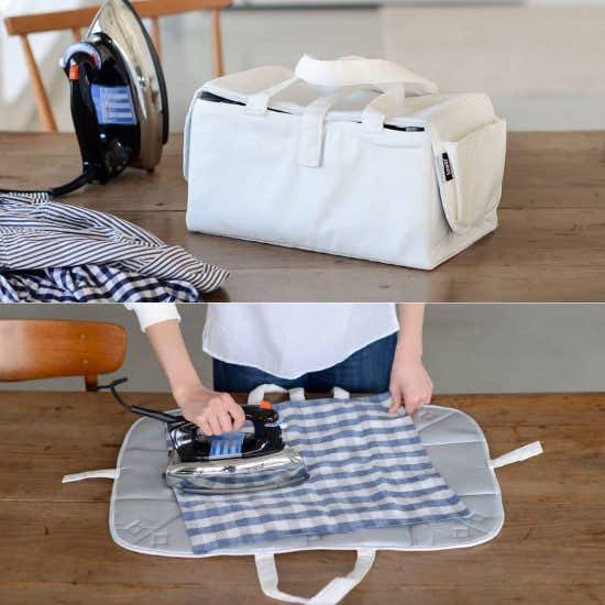 【新商品】アイロン掛けのモヤモヤを解消!収納バッグとアイロンマットの2つを兼ねた優れもの。