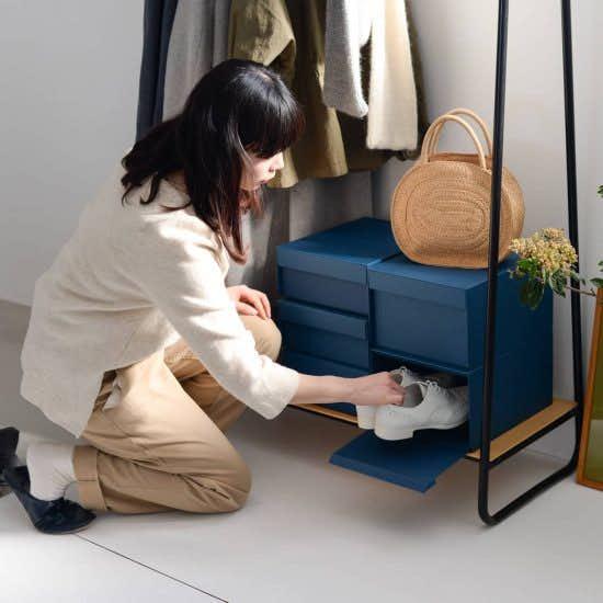 【新商品】重ねたまま取り出しOK!靴の数やスペースに合わせてカスタマイズできる靴箱で、玄関をもっとお気に入りの空間に♪
