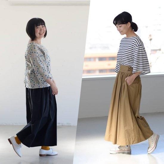 【着用レビュー】Soi-eの「たっぷりギャザーのワイドパンツ」を身長別スタッフ2名が着てみました!