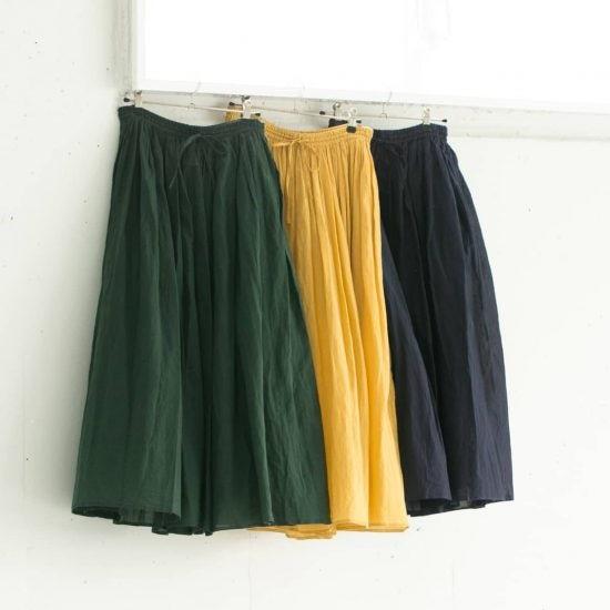 【数量限定】風をまとうように軽やか♪ SOILから大人のためのギャザースカートが新登場です!
