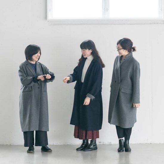 【着用レビュー】着こなし自由自在!3WAYアレンジ襟の「かろやかチェスターコート」を、身長別3名のスタッフが着てみました!