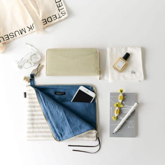 【新商品】大好きな fog linen workとコラボ!整理整頓に便利な「バッグインバッグ」をつくりました。