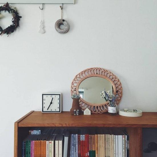 【スタッフの愛用品】北欧家具やかごが好き。だから選んだ「ラタンのミラー」
