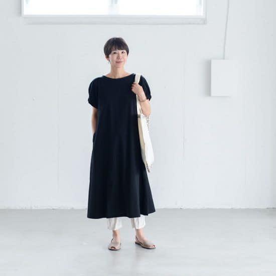 【着用レビュー】当店オリジナル「ふんわり袖のカットソーワンピース」を、身長の違う3名のスタッフが着てみました。