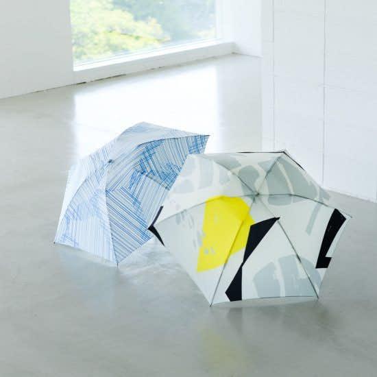 【新商品】サトウアサミさん描き下ろしデザイン!オリジナルの晴雨兼用折りたたみ傘をつくりました。