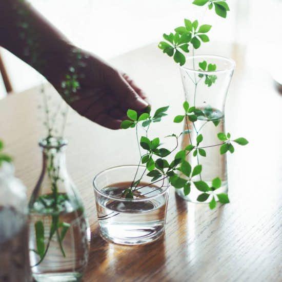【雨の日だって心地よく】涼しげガラスとニオイ対策で、じめじめを感じないインテリアに!