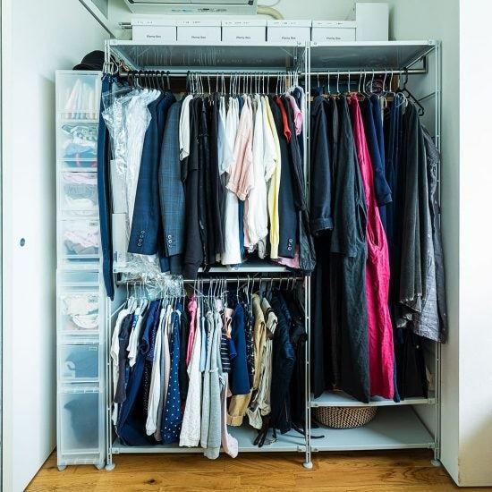 【やる気が起きないときの片付けは】洋服はたたまない、衣替えもしない、クローゼット収納