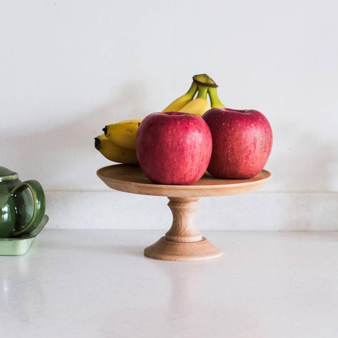 【新商品】いつもの風景が見違える!木のあたたかみを活かしたコンポート皿をつくりました。