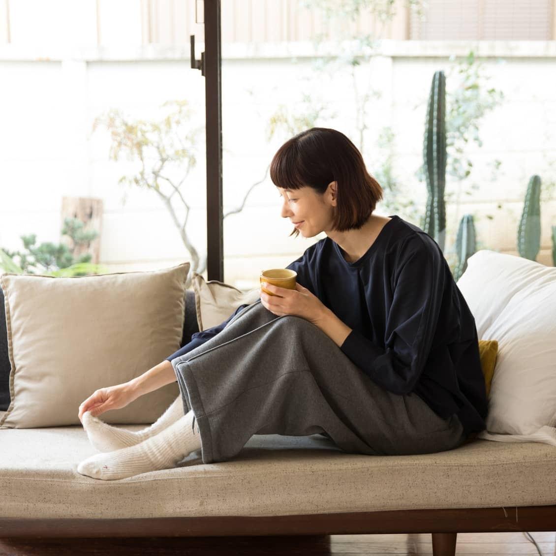 【新商品&再入荷】香菜子さんとつくったルームウェアが今年も!ふわふわパイルのルームソックスも新登場です♪