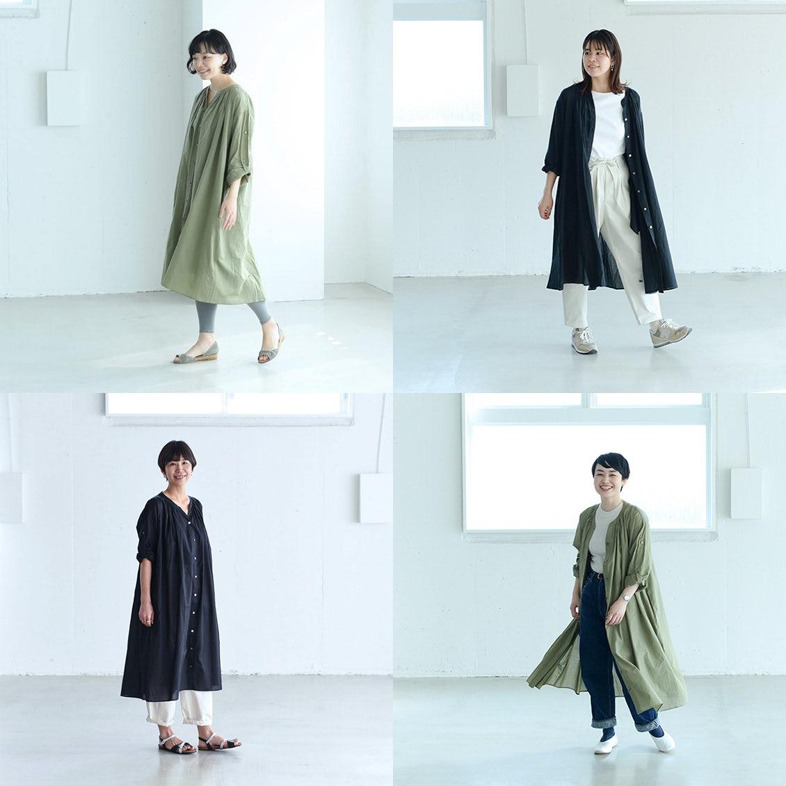 【着用レビュー】一枚でも羽織でも着られる3wayワンピースを、身長別に4名のスタッフが着てみました。