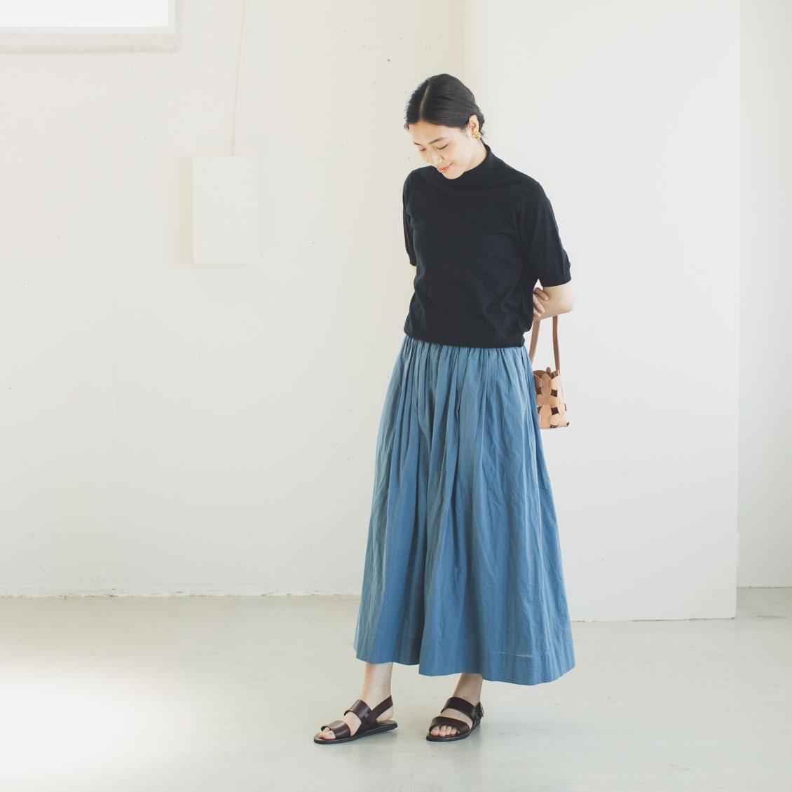 【再入荷&新色登場】昨年も大人気だった「パンツ派さんにもおすすめのギャザースカート」が再登場!今年は新色のやわらかブルーも