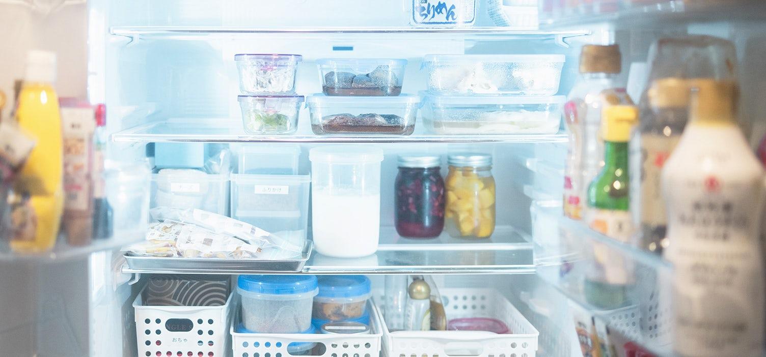 食材をつかいきれる冷蔵庫収納の画像