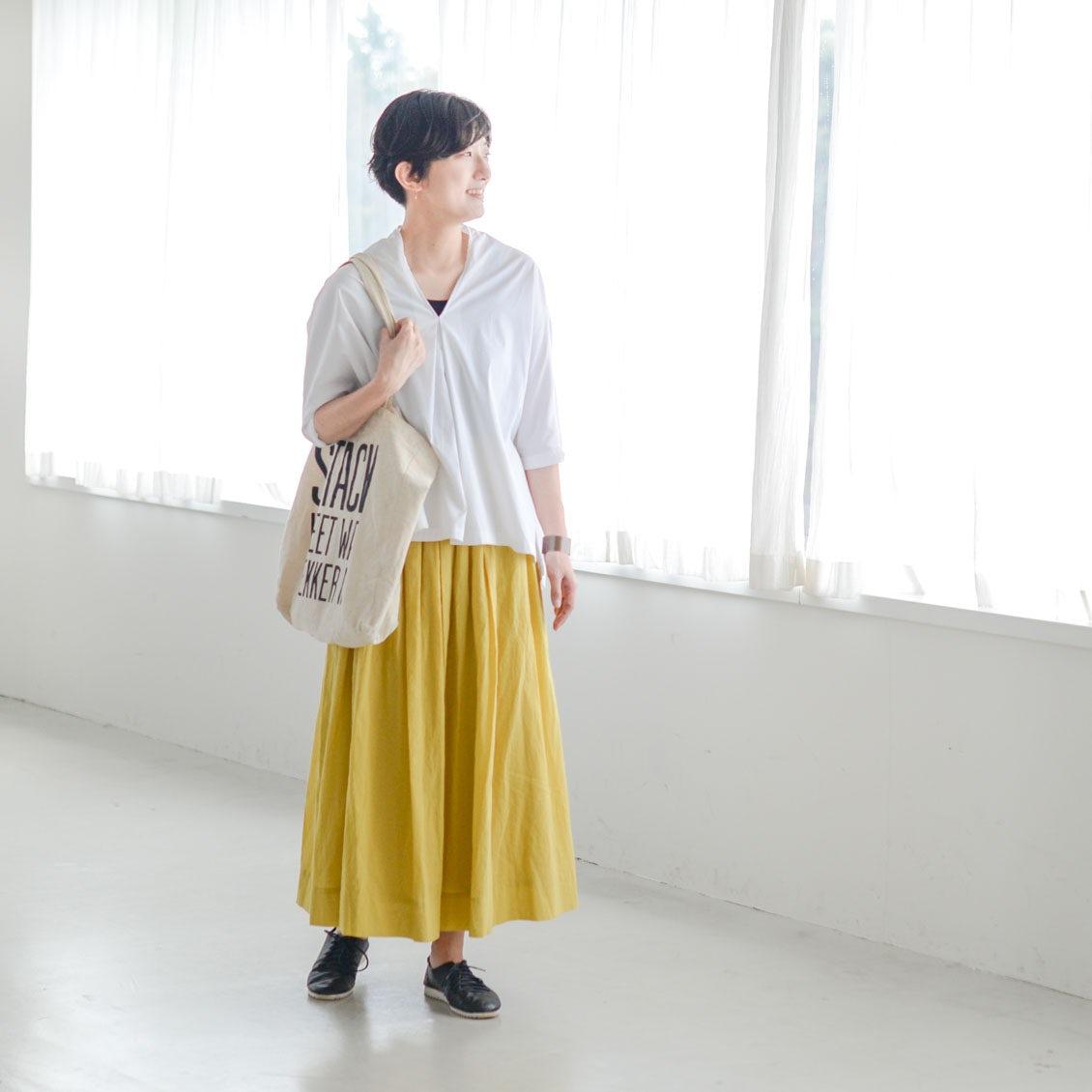 【着用レビュー】パンツ派さんの声から生まれた「ギャザースカート」を、3名のスタッフに着てもらいました!