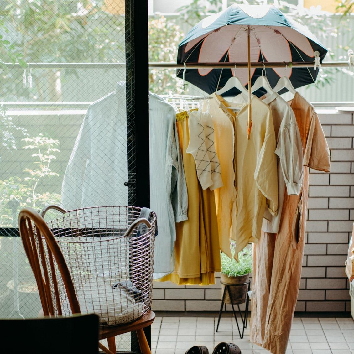 【趣味は、洗濯です。】ワンピースに、スカートに……今日は、おしゃれ着の洗濯日和。