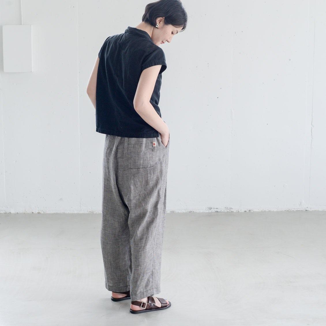 【着用レビュー】si-si-siのリネンタイパンツを、身長の違うスタッフ3名がはいてみました!