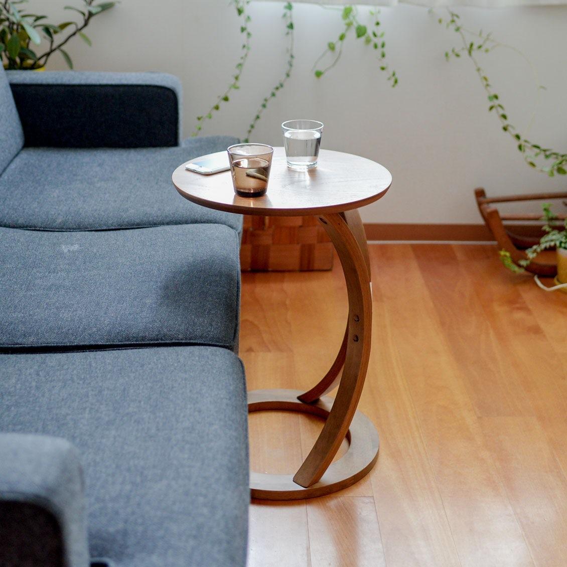 【新商品】人気の「木のサイドテーブル」 に新色のブラウンが仲間入りしました!