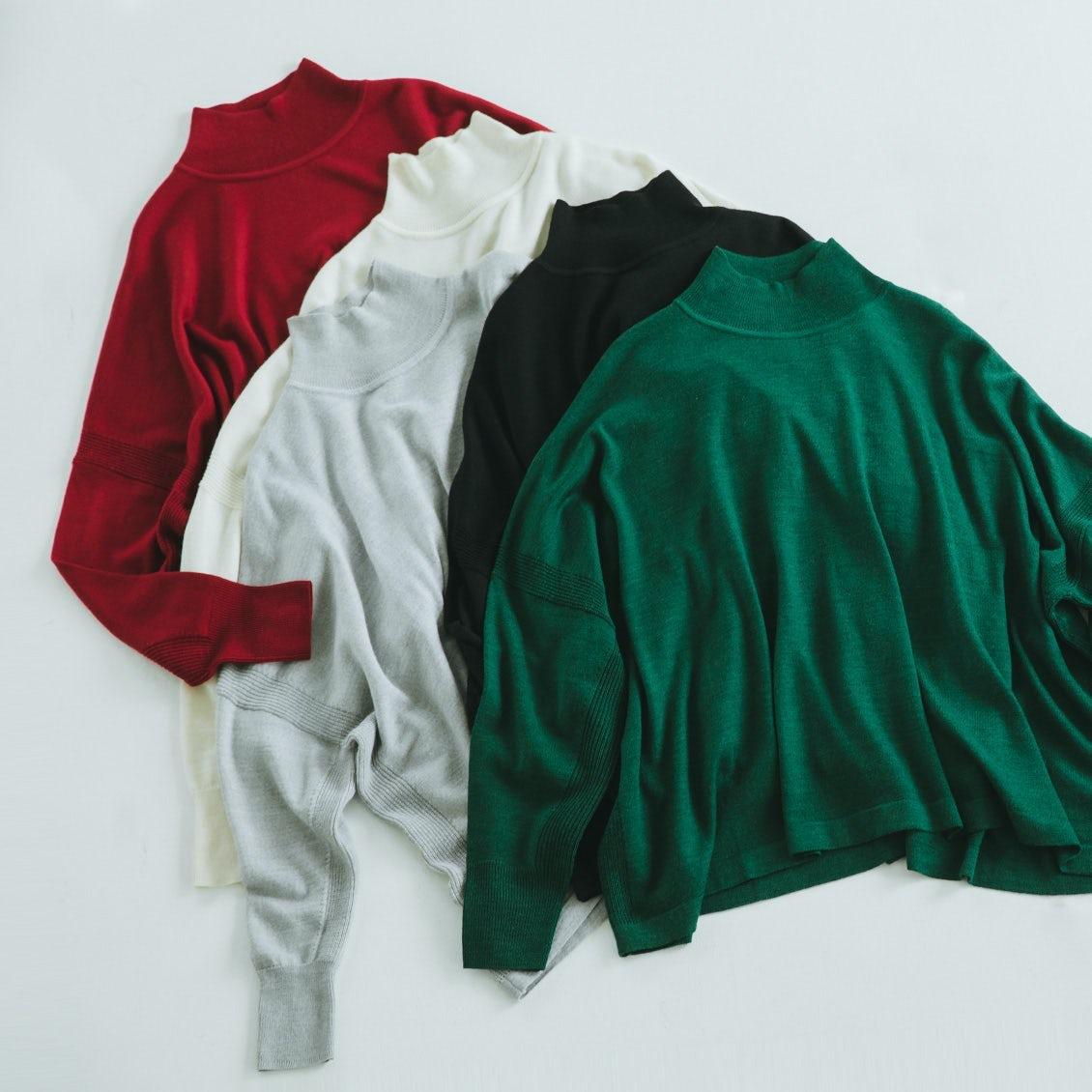 【再入荷&新色登場】最強の普段着が今年も!あの大人気「ハイネックニット」に新色が加わりました