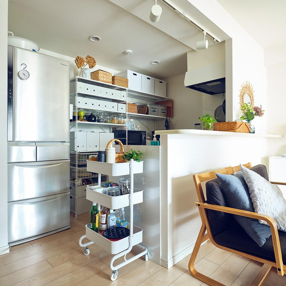 【暮らしと収納】キッチンワゴンに作業台、ベビー用品まで。スタッフ宅でワゴン収納を使ってみると