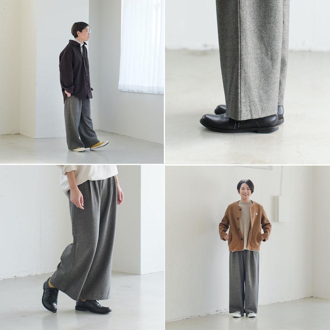 【着用レビュー】オリジナルのワイドタックパンツを、身長の違うスタッフ4名がはいてみました