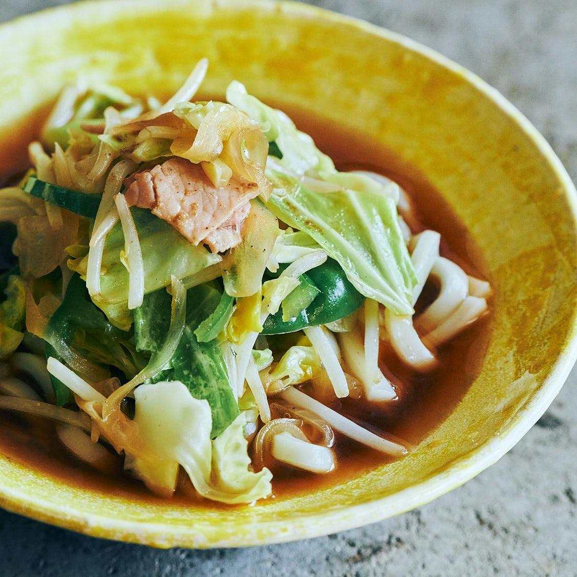 【頼れるうどん】第1話:冷蔵庫の残り野菜を使い切る!タンメン風うどん
