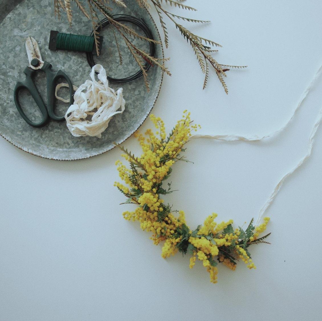 【春の花を、もっと】第3話:思わず部屋に飾りたくなる、ミモザのガーランド