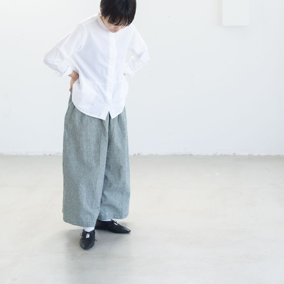 【着用レビュー】ichiのワイドパンツを、身長別4名のスタッフが着てみました