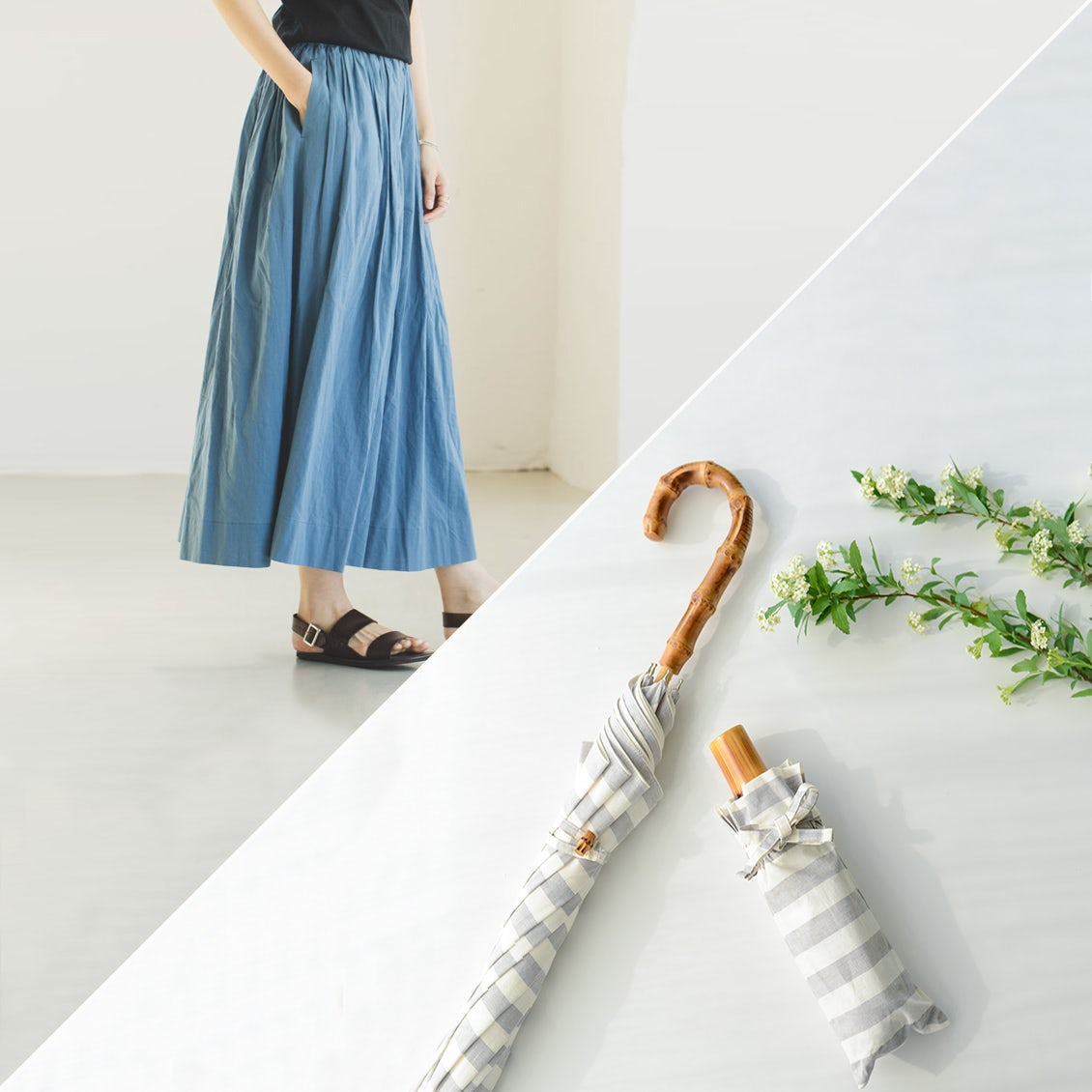 【再入荷】毎年大人気のロングセラーアイテム!ギャザースカートとアンキャシェットの日傘がそろって登場