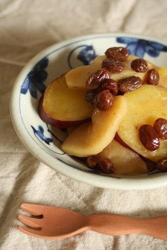 さつまいもとりんごとレーズンの煮たの  -クラシノート第3弾 秋のレシピ−