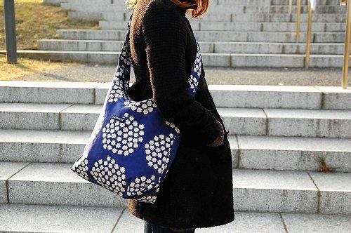 近日アップ予定のmarimekkoの新作バッグをチラリと。